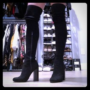 new style b6fa2 10a9c Shoes - B2 black thigh high boots